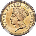 Three Dollar Gold Pieces, 1856 $3 MS63 NGC....