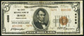 National Bank Notes, Irwin, PA - $5 1929 Ty. 2 The First NB Ch. # 4698. ...
