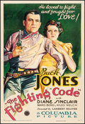 "Movie Posters:Western, The Fighting Code (Columbia, 1933). One Sheet (27.5"" X 40.5"").Western.. ..."