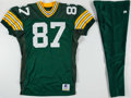 Football Collectibles:Uniforms, Green Bay Packers Game Used/Team Issued Lot with 1995 No. 87 Jersey and Tony Mandarich Workout Pants.. ...