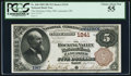 National Bank Notes:Ohio, Lancaster, OH - $5 1882 Brown Back Fr. 468 The Hocking Valley NB Ch. # 1241. ...