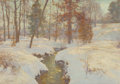 Paintings, Walter Launt Palmer (American, 1854-1932). Oaks in Winter (Snow in November), 1906. Oil on canvas. 24-3/4 x 34-1/2 inche...