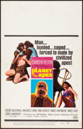 """Movie Posters:Science Fiction, Planet of the Apes (20th Century Fox, 1968). Folded, Fine/Very Fine. Window Card (14"""" X 22""""). Science Fiction.. ..."""