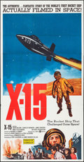 "Movie Posters:Adventure, X-15 (United Artists, 1961). Three Sheet (41"" X 79""). Adventure.. ..."