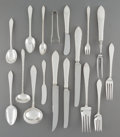 Silver Flatware, American:Tiffany, A One Hundred and Twenty-One Piece Tiffany & Co. FeatherEdge Pattern Silver Flatware Service for Ten, New York,...(Total: 121 )
