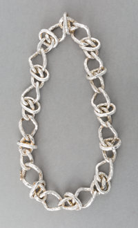 A Tane Silver Necklace, Mexico City, Mexico, late 20th-early 21st century 18 inches (45.7 cm) 7.84 troy ounces<...