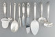 Seven Georg Jensen Acorn Pattern Flatware and Two Associated International Royal Danish Flatware Servi... (Total: 9 Item...