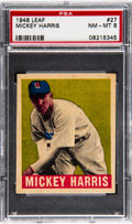 Baseball Cards:Singles (1940-1949), 1948 Leaf Mickey Harris #27 PSA NM-MT 8....