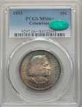 1893 50C Columbian MS66+ PCGS. CAC. PCGS Population: (218/31 and 36/3+). NGC Census: (138/31 and 8/1+). MS66. Mintage 1...