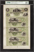 Obsoletes By State:Michigan, Tecumseh, MI- Bank of Tecumseh $1-$5-$5-$5 Aug. 22, 1859 X4 Uncut Sheet. ...