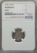 Early Half Dimes, 1797 H10C -- Bent -- NGC Details. VF. NGC Census: (7/90). PCGSPopulation: (16/138). CDN: $4,000 Whsle. Bid for problem-fre...