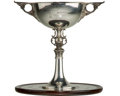 Silver Holloware, British:Holloware, A Goldsmiths & Silversmiths Co. Silver and Mahogany Fait Accompli Trophy Table Presented to Castrol Founder Charle...