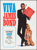 "Movie Posters:James Bond, Viva James Bond: Goldfinger (United Artists, R-1970). FrenchMoyenne (23.6"" X 31.5"") Yves Thos Artwork. James Bond.. ..."