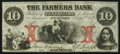 Obsoletes By State:Rhode Island, Wickford, RI- Farmers Bank $10 Aug. 1, 1857. ...
