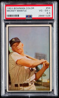 Baseball Cards:Singles (1950-1959), 1953 Bowman Color Mickey Mantle #59 PSA VG-EX+ 4.5.. ...