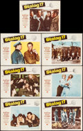 """Movie Posters:War, Stalag 17 (Paramount, 1953). Lobby Cards (7) (11"""" X 14""""). War.. ...(Total: 7 Items)"""