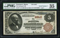 National Bank Notes:Maine, Searsport, ME - $5 1882 Brown Back Fr. 477 The Searsport NB Ch. #2642. ...