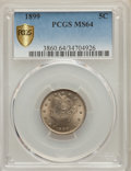 Liberty Nickels, 1899 5C MS64 PCGS Secure. PCGS Population: (432/304). NGC Census: (272/190). CDN: $170 Whsle. Bid for problem-free NGC/PCGS...