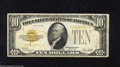 Small Size:Gold Certificates, Fr. 2400 $10 1928 Gold Certificate. Fine. Some soiling is noticed on the back of this $10 Gold that also has a small portio...