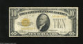 Small Size:Gold Certificates, Fr. 2400 $10 1928 Gold Certificate. Very Good. This note is still legible and colorful, but suffers from a few pinholes....