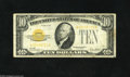 Small Size:Gold Certificates, Fr. 2400* $10 1928 Gold Star Certificate. Fine. Gold Stars are tough in any condition with this bright example having tape ...