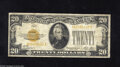 Small Size:Gold Certificates, Fr. 2402 $20 1928 Gold Certificate. Fine. Some snap is retained by this $20 Gold....