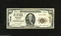 National Bank Notes:Tennessee, Memphis, TN - $100 1929 Ty. 1 Union Planters NB & TC Ch. #13349 This popular crisp Brown Seal C-note has great margins...
