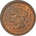 1854 1C N-10, High R.2, MS66 Red and Brown NGC. CAC