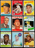 Baseball Cards:Lots, 1958-80 Topps Stars & HoFers Collection (9).. ...