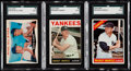 Baseball Cards:Lots, 1960-66 Topps Mickey Mantle SGC Graded Trio (3).. ...