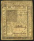 Colonial Notes:Delaware, Delaware January 1, 1776 5s Extremely Fine.. ...