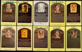 Autographs:Post Cards, Hall of Fame Yellow Post Card Plaque Signed Collection (109)....