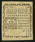 Colonial Notes:Connecticut, Connecticut October 11, 1777 3d Uncancelled New.. ...