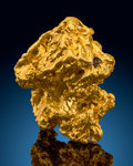 Minerals:Native Metals, Gold Nugget. Bendigo Goldfields. City of GreaterBendigo. Victoria, Australia. ...