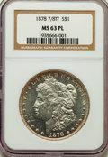 Morgan Dollars, 1878 7/8TF $1 Strong MS63 Prooflike NGC. NGC Census: (98/71). PCGS Population: (120/83). CDN: $385 Whsle. Bid for problem-f...