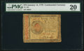 Colonial Notes:Continental Congress Issues, Continental Currency January 14, 1779 $70 PMG Very Fine 20...