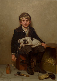 John George Brown (American, 1831-1913) Shoeshine Boy, 1903 Oil on canvas 24 x 17 inches (61.0 x