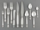 A Sixty-Six Piece Georg Jensen Acanthus Pattern Silver Flatware Service, designed 1917, manufactured post-1945 ... (Tota...