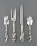 Silver Flatware, American:Dominick & Haff, A Forty-Eight Piece Dominick & Haff Labors of CupidPattern Flatware Set for Twelve, New York City, designed 190...(Total: 48 Items)