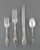 A Forty-Eight Piece Dominick & Haff Labors of Cupid Pattern Flatware Set for Twelve, New York City, designed 190...