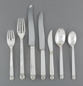 Silver Flatware, American:Other , An Eighty-Three Piece Peer Smed Silver Flatware Service