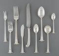 Silver Flatware, American:Other , A Seventy-Two Piece Porter Blanchard Georgia...