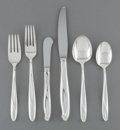 Silver Flatware, American, An Eighty-One Piece Reed & Barton Silver SculpturePattern Silver Flatware Service, designed 1954. Marks: Reed...(Total: 81 Items)