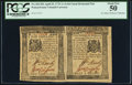 Colonial Notes:Pennsylvania, Pennsylvania April 25, 1776 Horizontal Pair 1s and 2s6d PCGS About New 50.. ...