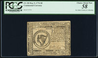 Continental Currency May 9, 1776 $8 PCGS Choice About New 58