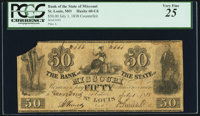 St. Louis, MO- Bank of the State of Missouri Counterfeit $50 July 1, 1838 C6