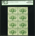 Fractional Currency:First Issue, Fr. 1241 10¢ First Issue Block of Eight PCGS Choice New 63PPQ.. ...