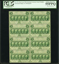 Fractional Currency:First Issue, Fr. 1311 50¢ First Issue Block of Eight PCGS Choice About New 55PPQ.. ...