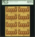 Fractional Currency:First Issue, Fr. 1282 25¢ First Issue Block of Eight PCGS Choice About New 58PPQ.. ...