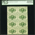 Fractional Currency:First Issue, Fr. 1243 10¢ First Issue Block of Eight PCGS Choice About New 55PPQ.. ...